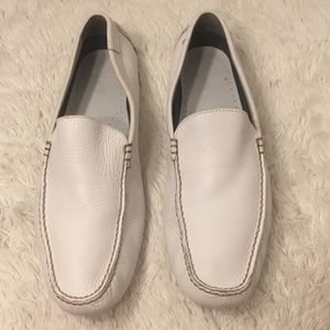 White Leather Polo Ralph Lauren Driving Loafers